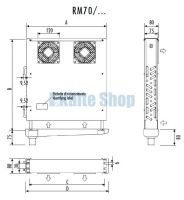 Evaporator for bars RM70/347