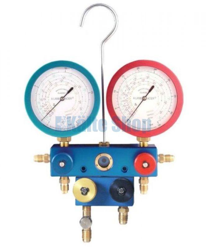 Manometer 1//4 SAE Anschluss für Lecksuche Kälte und KFZ-Klimaanlagen