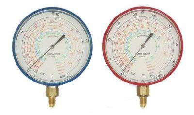Alu-Manometer 100mm HD Blondelle